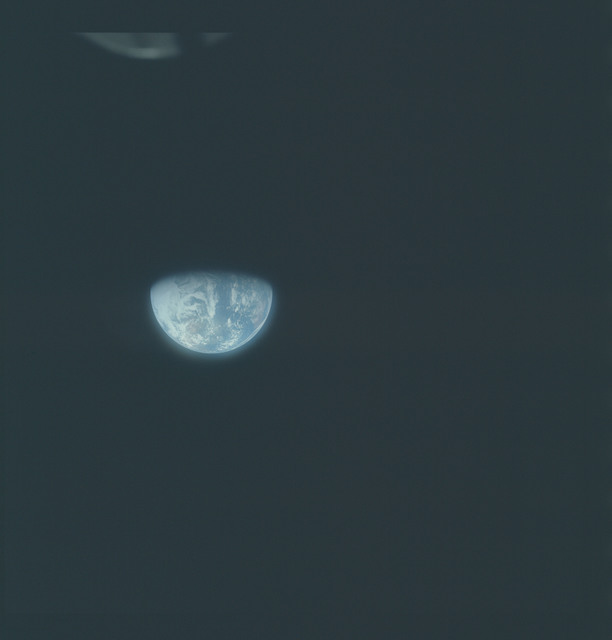 AS16-118-18888 - Apollo 16 - Apollo 16 Mission image - View from the Translunar Coast (TLC) of the Earth
