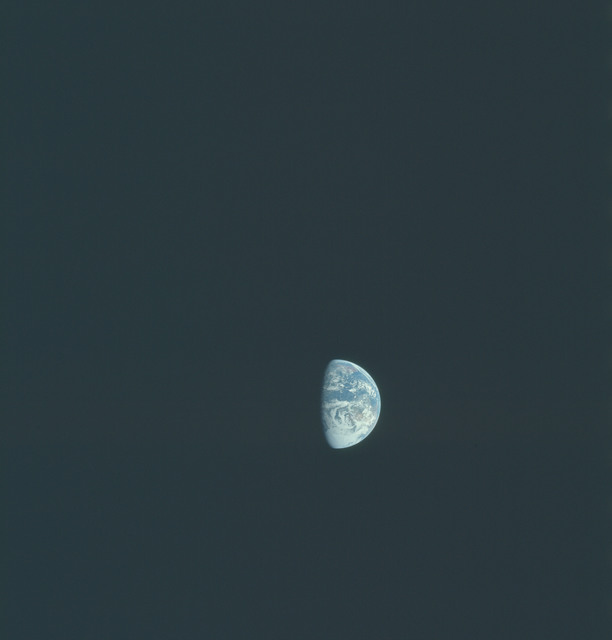 AS16-118-18889 - Apollo 16 - Apollo 16 Mission image - Distant view from the Translunar Coast (TLC) of the Earth