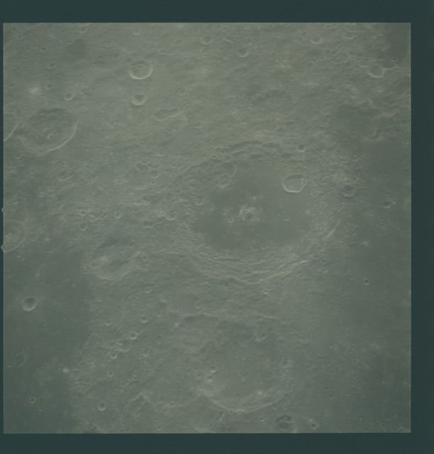 AS16-122-19605 - Apollo 16 - Apollo 16 Mission Image - View of the Jansky and Neper Craters.