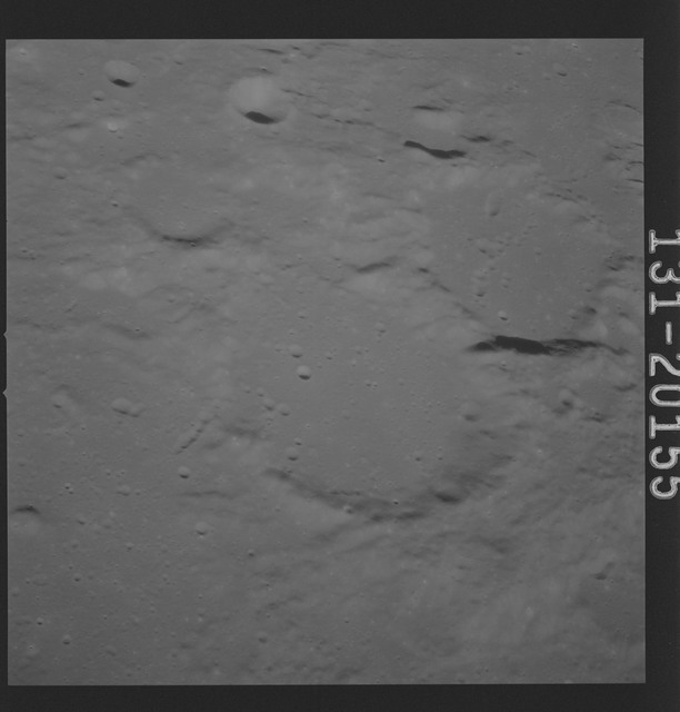 AS16-131-20155 - Apollo 16 - Apollo 16 Mission Image - Ultraviolet view of the Dolland B, C Craters, 3750A.
