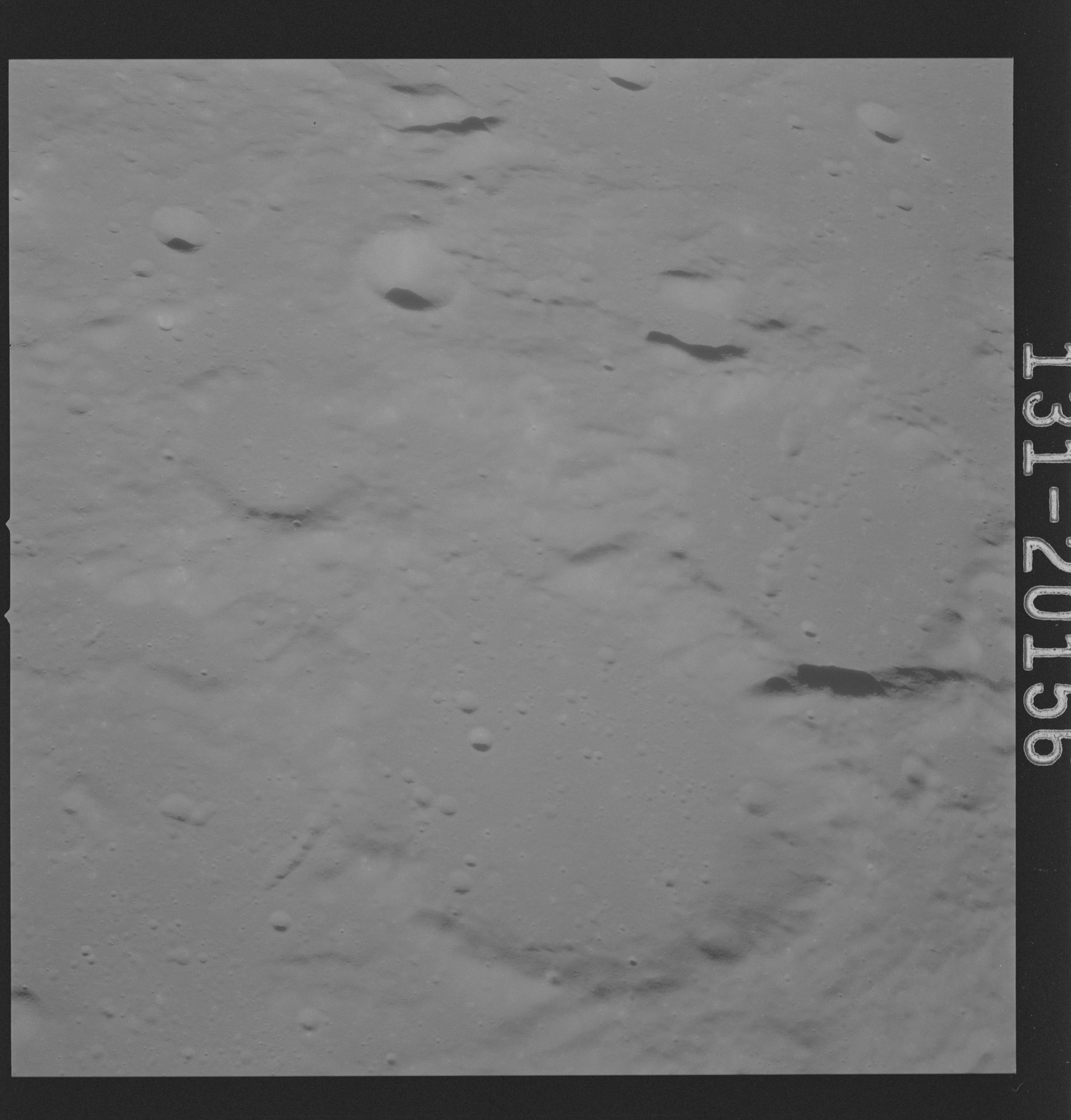 AS16-131-20156 - Apollo 16 - Apollo 16 Mission Image - Ultraviolet view of the Dolland B, C Craters, 4000A.