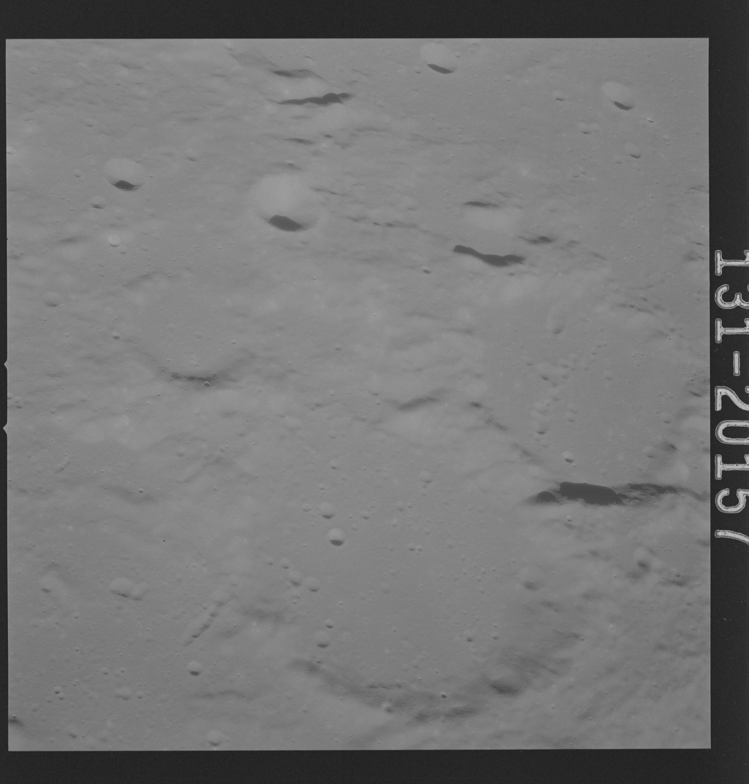 AS16-131-20157 - Apollo 16 - Apollo 16 Mission Image - Ultraviolet view of the Dolland B, C Craters, 4000A.