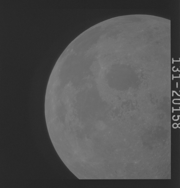 AS16-131-20158 - Apollo 16 - Apollo 16 Mission Image - Ultraviolet view of a Lunar Disc from 90E to 5E, 3050A.