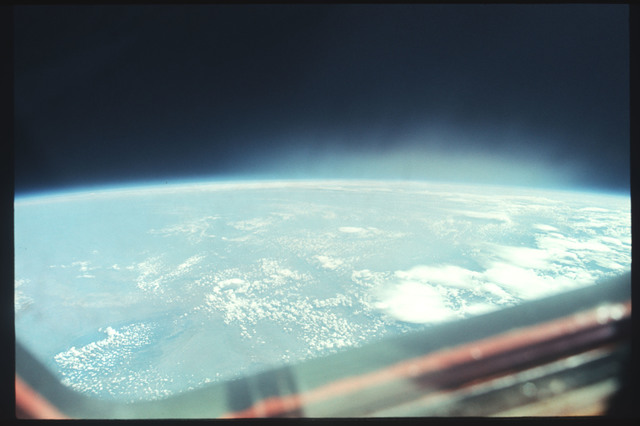 AST-04-214 - Apollo Soyuz Test Project - Apollo Soyuz Test Project, Earth views over United States, Wyoming Clouds
