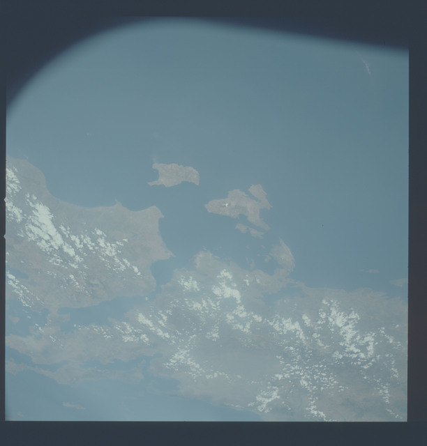 AST-09-520 - Apollo Soyuz Test Project - Apollo Soyuz Test Project, Greece, Cevkas, Peloponnesus, Gulf of Korinth, Zante