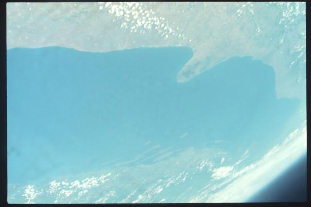 AST-11-676 - Apollo Soyuz Test Project - Apollo Soyuz Test Project, Italy, Gargano Promentory, Adriatic Sea, Haze