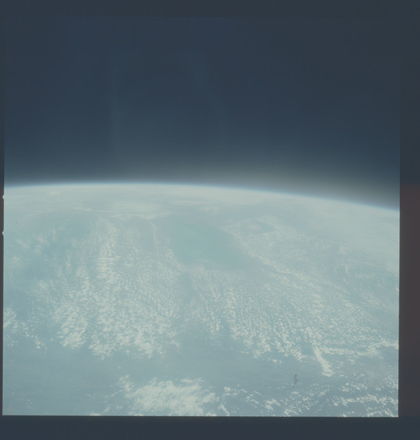 AST-20-1635 - Apollo Soyuz Test Project - Apollo Soyuz Test Project, Clouds, Quebec, Overexposed, Looking Southeast