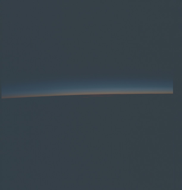 AST-27-2336 - Apollo Soyuz Test Project - Apollo Soyuz Test Project, Earth Limb at Sunrise, East of Argentina