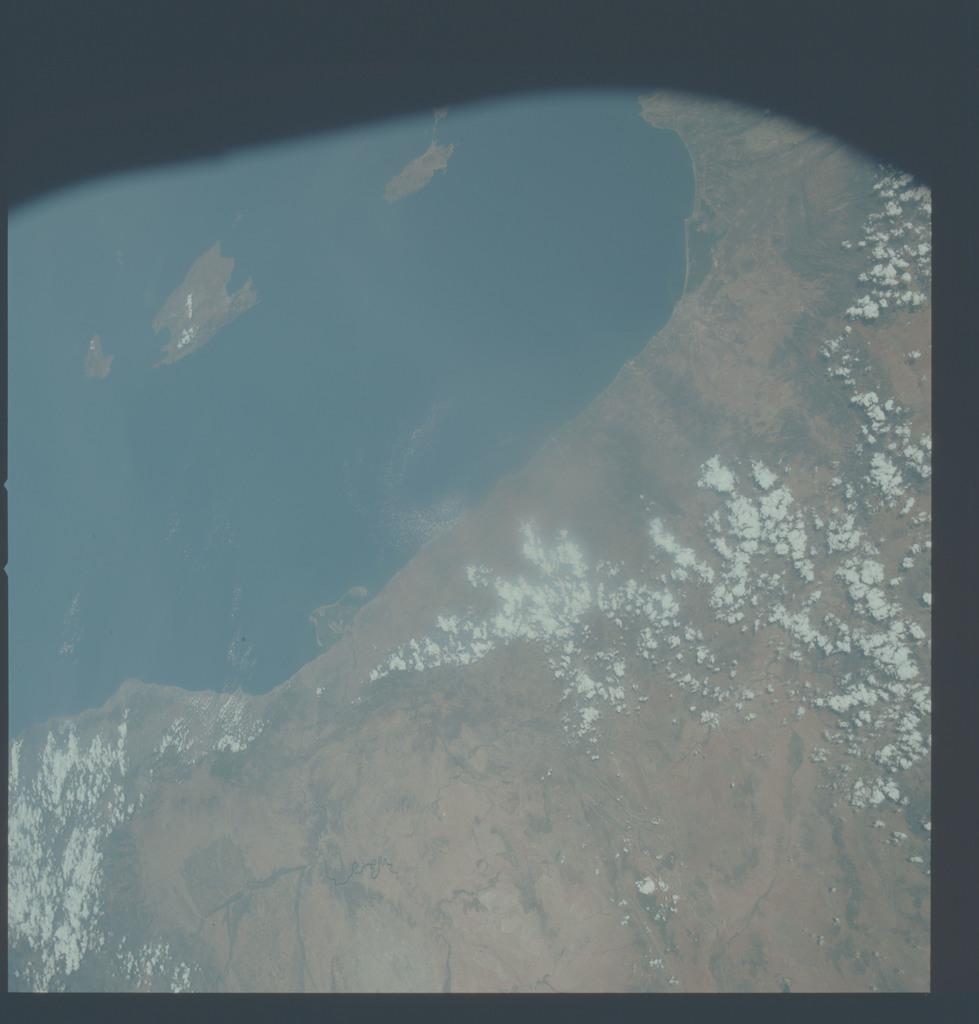 AST-27-2375 - Apollo Soyuz Test Project - Apollo Soyuz Test Project, Spain, Valencia, Barcelona, Ebro River, Mallorca Island