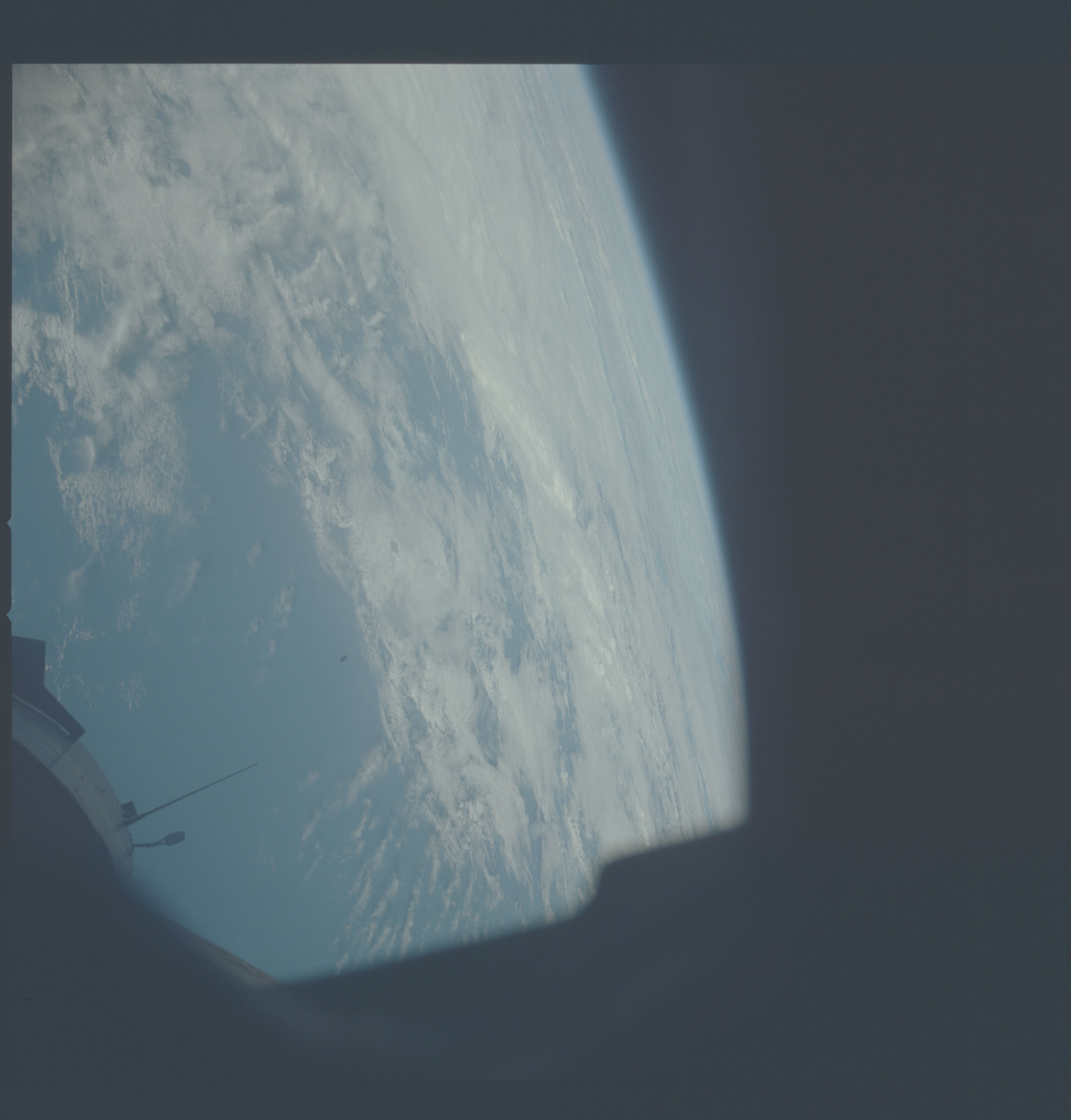 AST-30-2585 - Apollo Soyuz Test Project - Apollo Soyuz Test Project, Clouds over Pacific Ocean