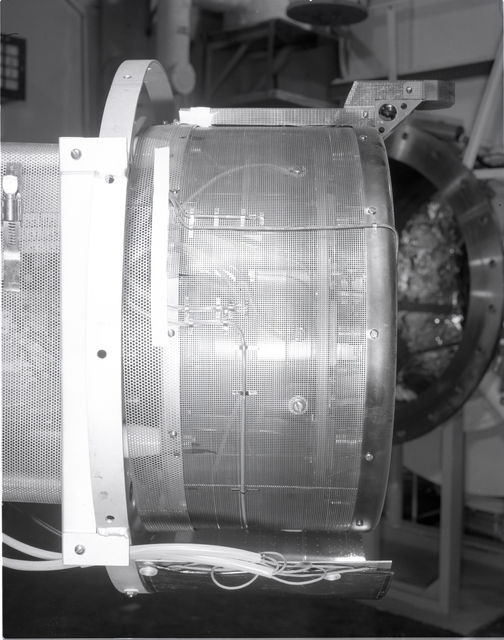 30 CM CENTIMETER THERMAL BLANKET IN TANK 4 OF THE ELECTRIC PROPULSION RESEARCH BUILDING EPRB