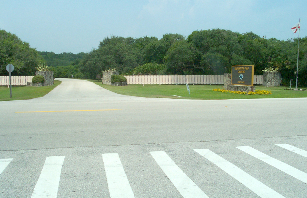 A1A Scenic and Historic Coastal Byway - Entrance to Washington Oaks Gardens State Park