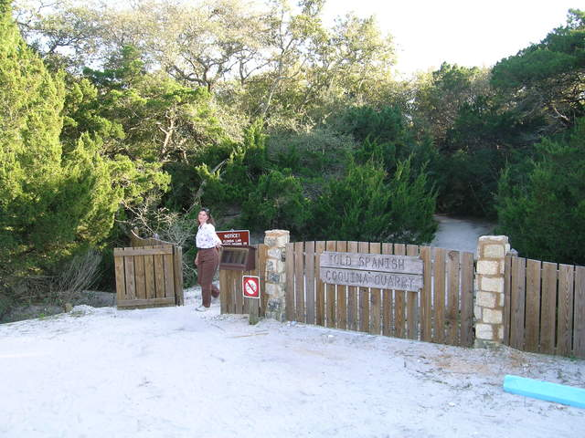 A1A Scenic and Historic Coastal Byway - Hiker Leaving Old Spanish Quarry Trail