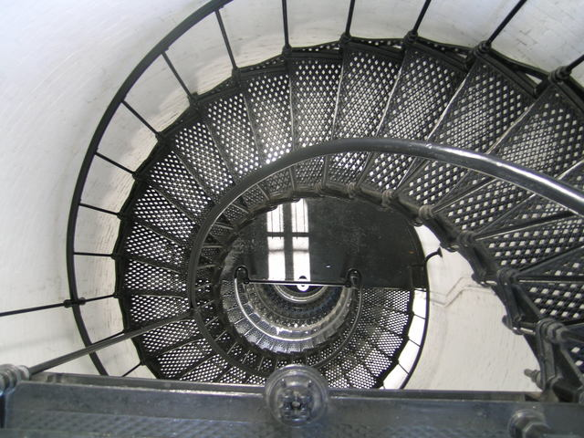 A1A Scenic and Historic Coastal Byway - Looking Down the Spiral Staircase in the St. Augustine Lighthouse