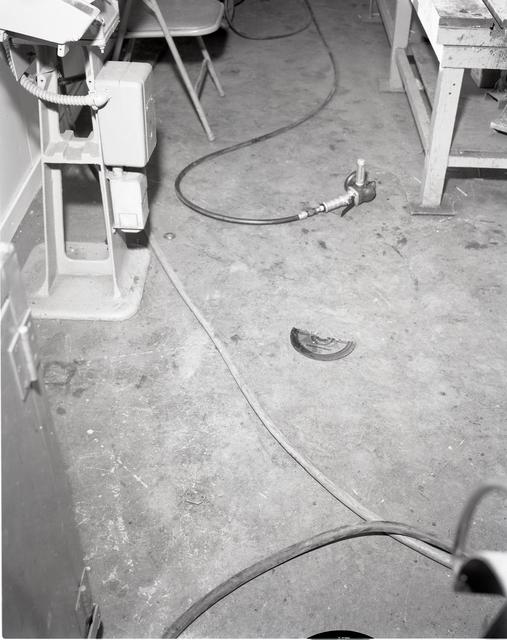 ACCIDENT - FLEXTEX SANDING DISK FAILURE AIR OPERATOR