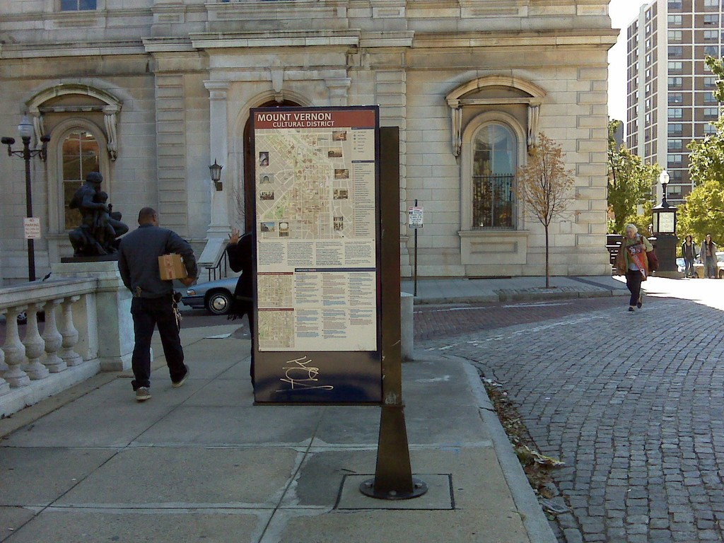 Baltimore's Historic Charles Street - Charles Street Wayfinding Sign