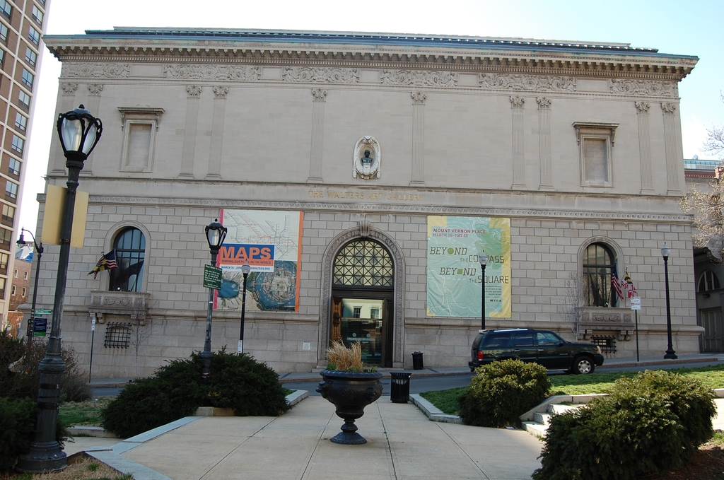 Baltimore's Historic Charles Street - Outside the Walters Art Museum