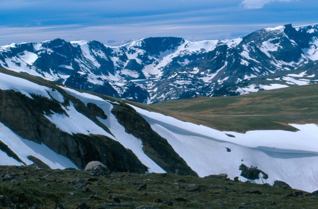 Beartooth Highway - Snow-Covered Mountains in Summer