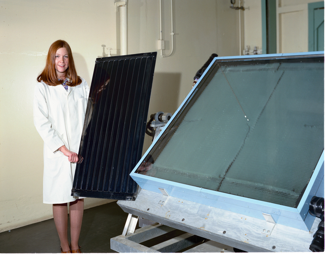 BLACK CHROME COATED SOLAR COLLECTOR PANELS FOR USE IN PRODUCT FINISHING ARTICLE