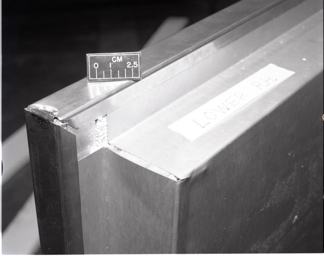 BOX FRAME CORNER MISMATCH DETAILS ON PPG SOLAR COLLECTOR PANEL ASSEMBLY