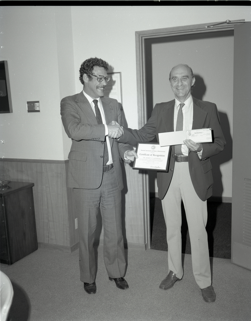 CASH AWARD FROM THE INVENTIONS AND CONTRIBUTIONS BOARD TO LEWIS EMPLOYEE DR. HENRY KOSMAHL
