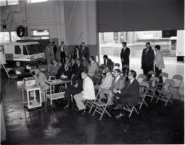 CENTER DIRECTOR MEETING IN THE SPACE POWER CHAMBER SPC