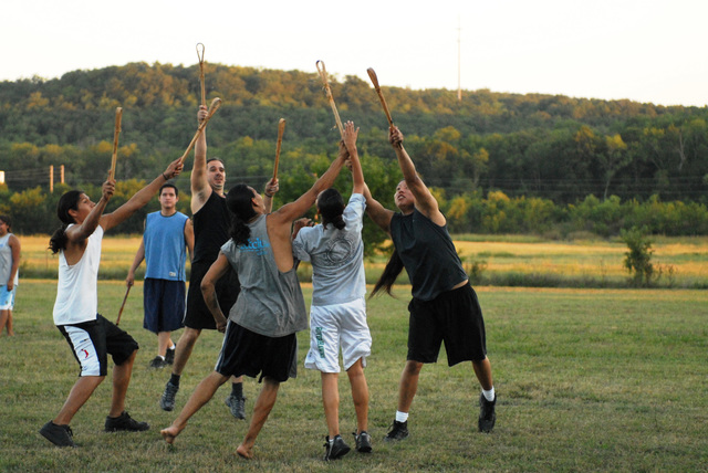 Cherokee Hills Byway - Traditional Game of Stickball Being Played