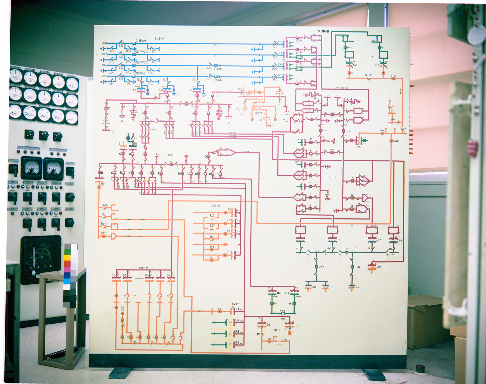 Circuit Diagram Boards In Electrical Distribution Office Picryl Drawing Diagrams