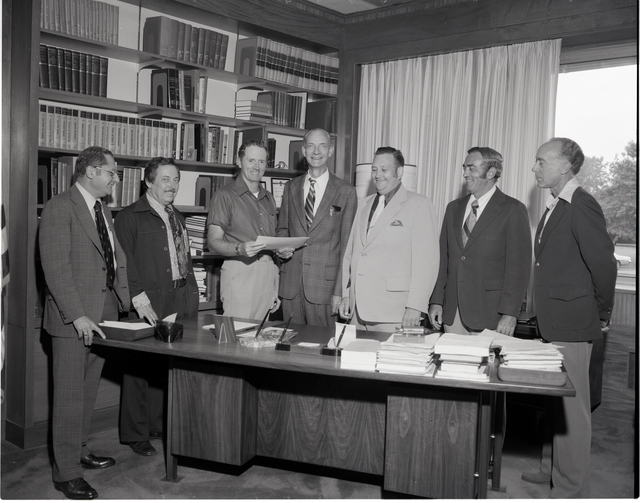 COMMUNICATION TECHNOLOGY SATELLITE CTS LAUNCH POSTAL CANCELLATION SIGNATURE CARD PRESENTATION - LEFT TO RIGHT - HIMMEL - SHRAMO - ROBBINS - LUNDIN - ALEXOVICH - DONOUGHE - PLOHR
