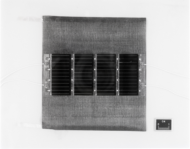COMSAT COMMUNICATIONS SATELLITE SOLAR ARRAY SAMPLES