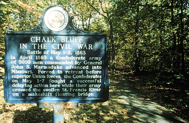 Crowley's Ridge Parkway - Chalk Bluff Battle Site