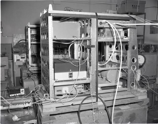 CV-990 EQUIPMENT RACKS IN THE INSTRUMENT RESEARCH LABORATORY IRL