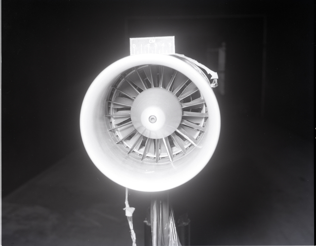 DAMAGE TO GENERAL ELECTRIC EXLET TEST AT THE 9X15 FOOT WIND TUNNEL