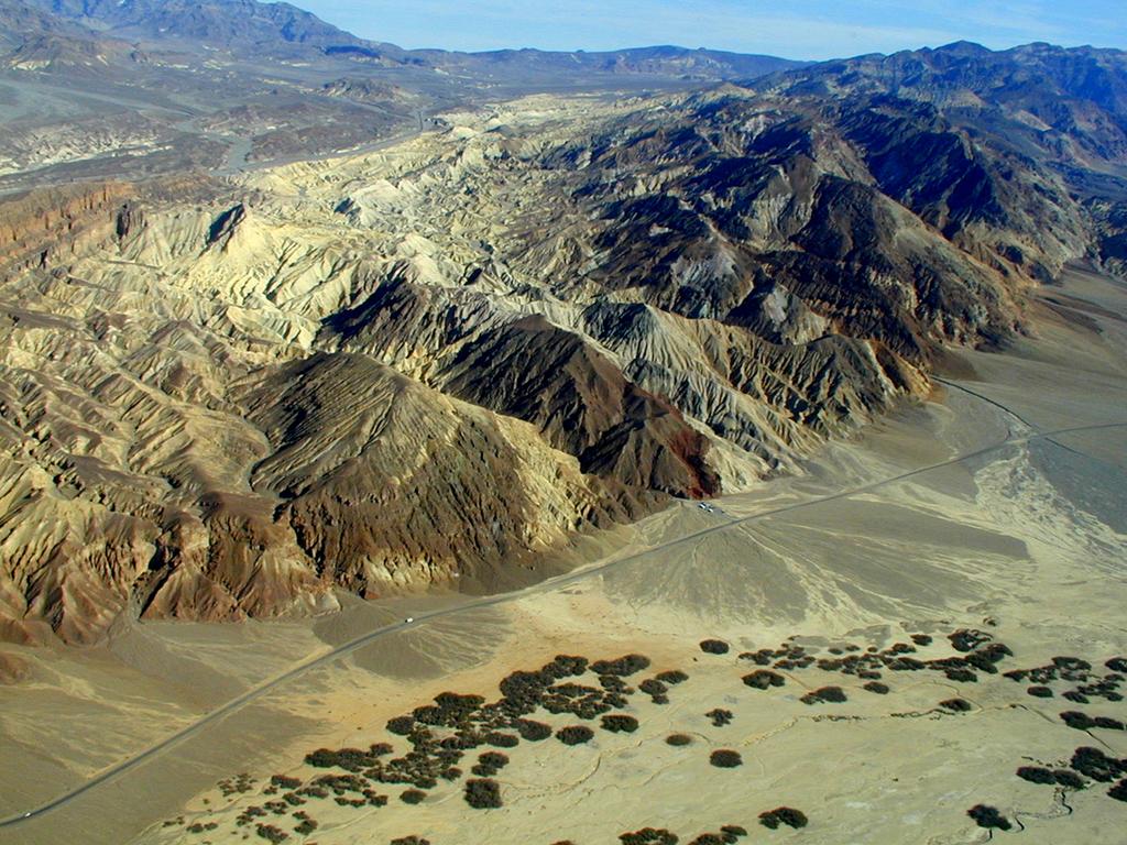 Death Valley Scenic Byway - Furnace Creek Badlands