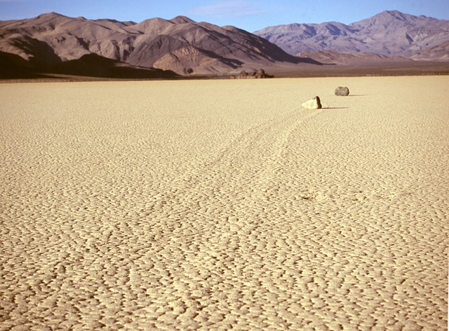 Death Valley Scenic Byway - Sliding Rocks at Racetrack Playa