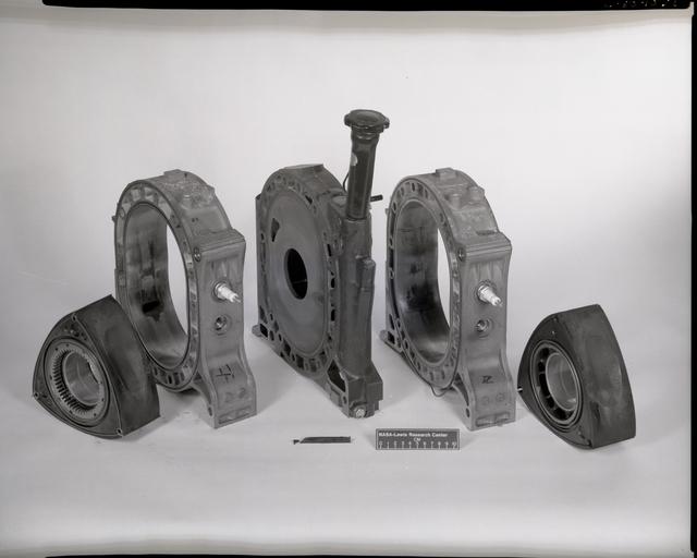 DISASSEMBLED MAZDA ROTARY ENGINE
