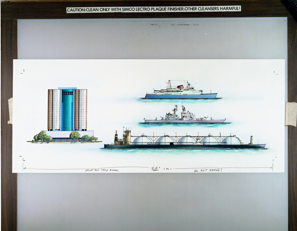DRAWING OF BOATS FOR IR-100 AWARD EXHIBIT