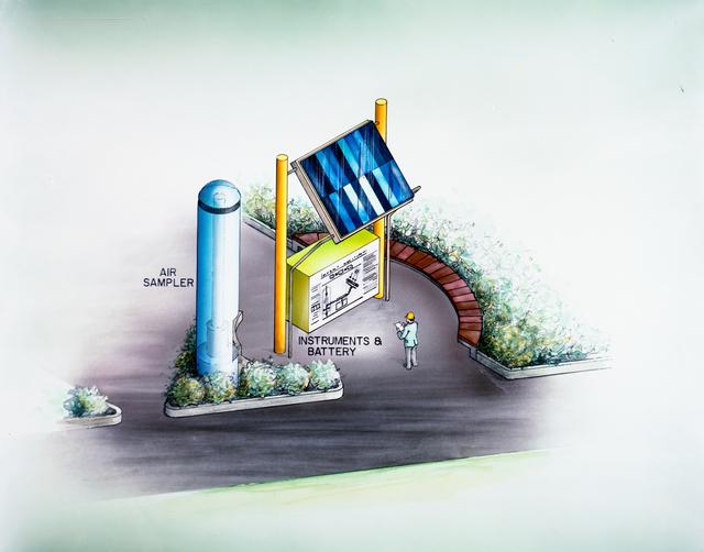 DRAWING OF LIBERTY PARK SOLAR ELECTRIC POWERED AIR SAMPLER