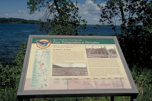 Edge of the Wilderness - An Interpretive Sign at Pughole Lake