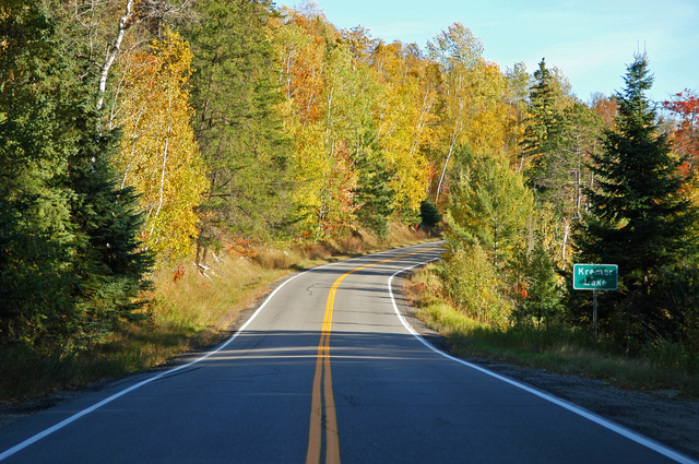 Edge of the Wilderness - Fall on the Road by Kremor Lake
