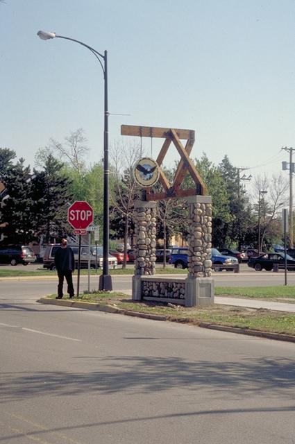 Edge of the Wilderness - Gateway Pillar in Grand Rapids