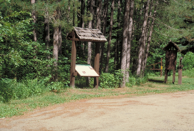 Edge of the Wilderness - Interpretive Sign by the Wayside