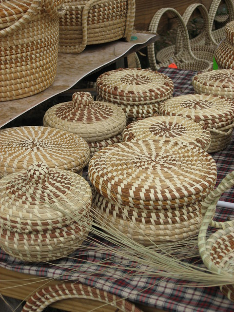 Edisto Island National Scenic Byway - Sweetgrass Baskets - A Gullah Tradition