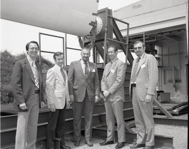 ENERGY RESEARCH AND DEVELOPMENT ADMINISTRATION ERDA OFFICIALS FROM DIVISION OF SOLAR ENERGY WITH NASA PERSONNEL