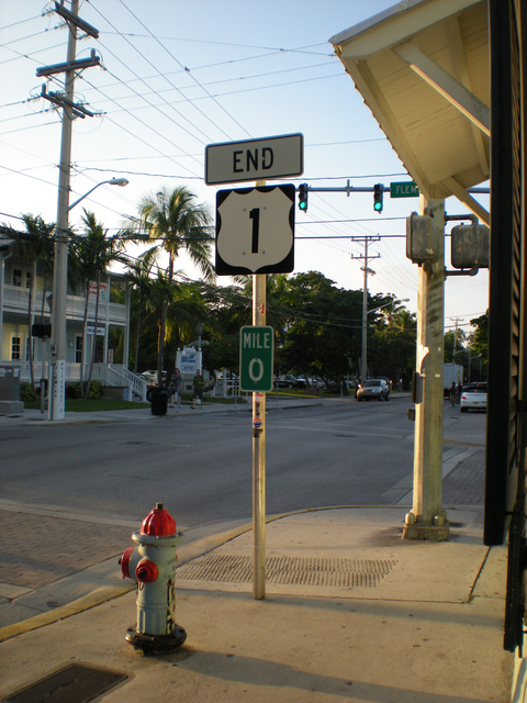 Florida Keys Scenic Highway - Directional Mile Marker in the Keys