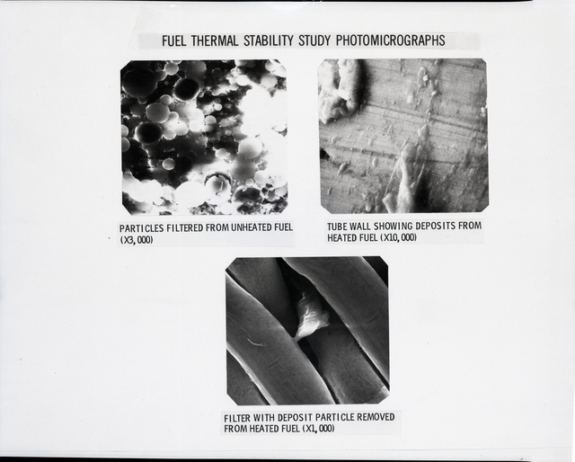 FUEL THERMAL STABILITY STUDY PHOTOMICROGRAPHS