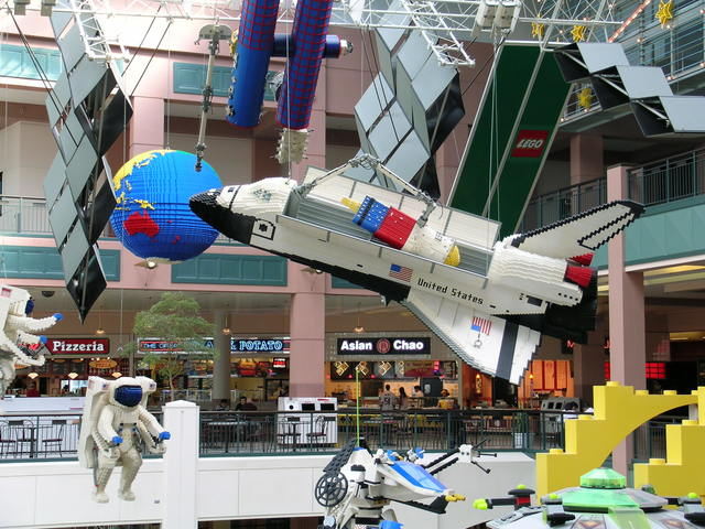 Grand Rounds Scenic Byway - Huge Lego Spaceship in the Mall of America