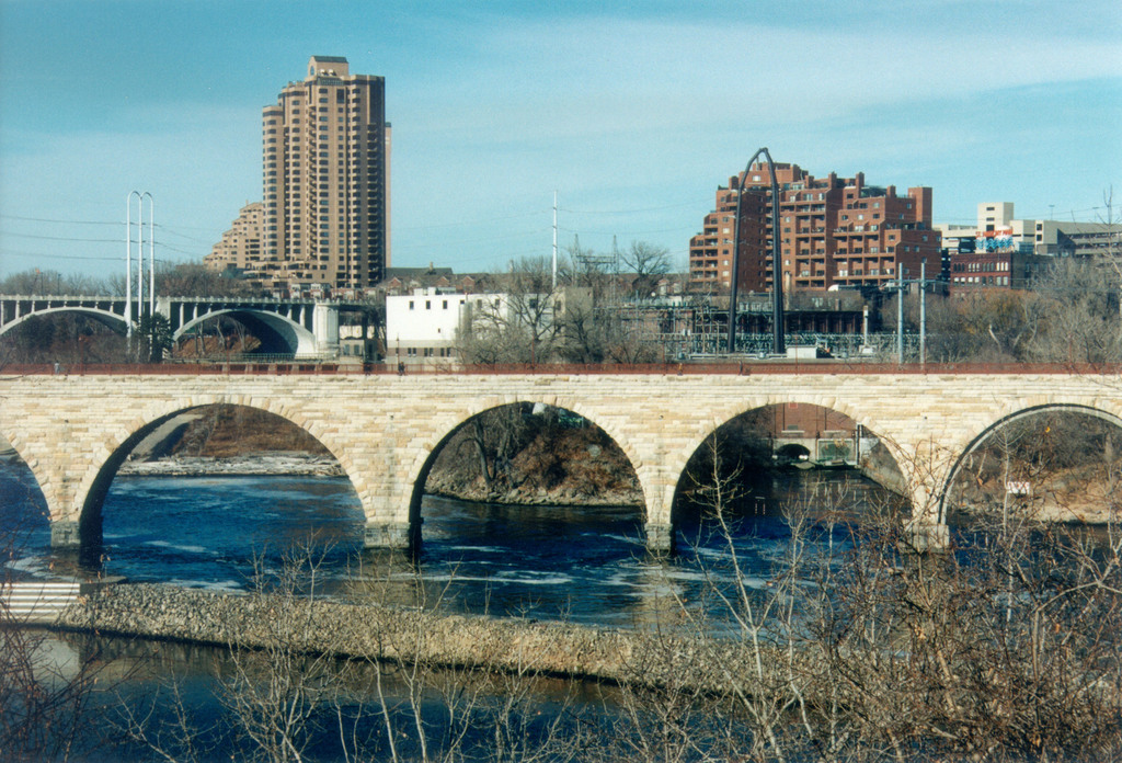 Grand Rounds Scenic Byway - The Stone Arch Bridge and the City of Minneapolis