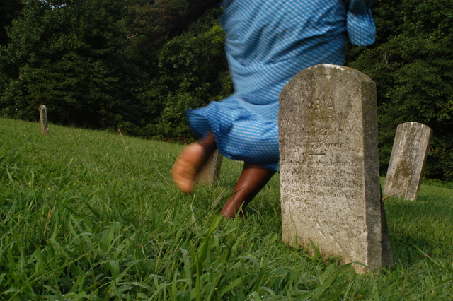 Harriet Tubman Underground Railroad Byway - Running Through Mt. Pleasant Cemetery Headstones