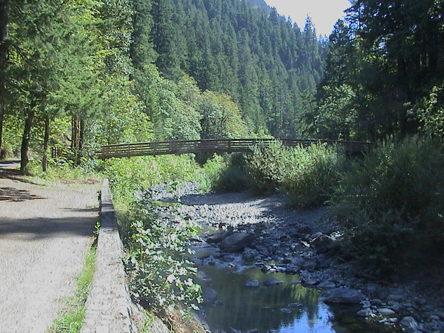 Historic Columbia River Highway - Pedestrian Bridge over Eagle Creek on the Historic Columbia River Highway